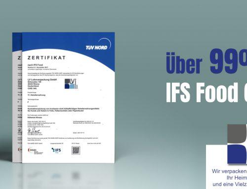 "IFS Food 6.1 ""höheres Niveau"" mit über 99 %"